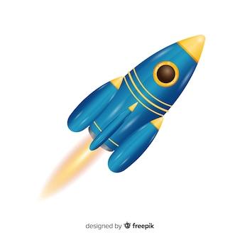 Cohete moderno con diseño realista