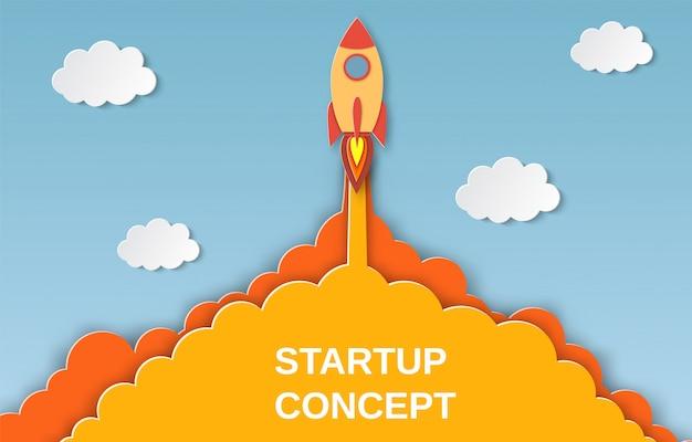 Cohete para proyecto empresarial de inicio