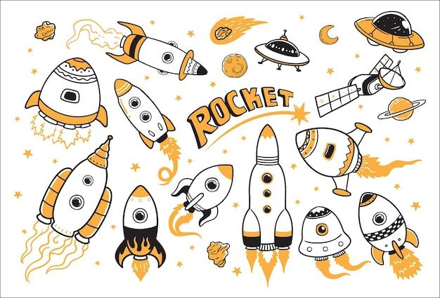 Cohetes en el espacio
