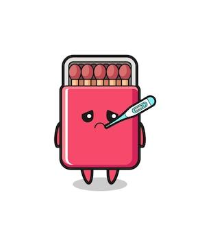 Coincide con el personaje de la mascota de la caja con fiebre, diseño lindo