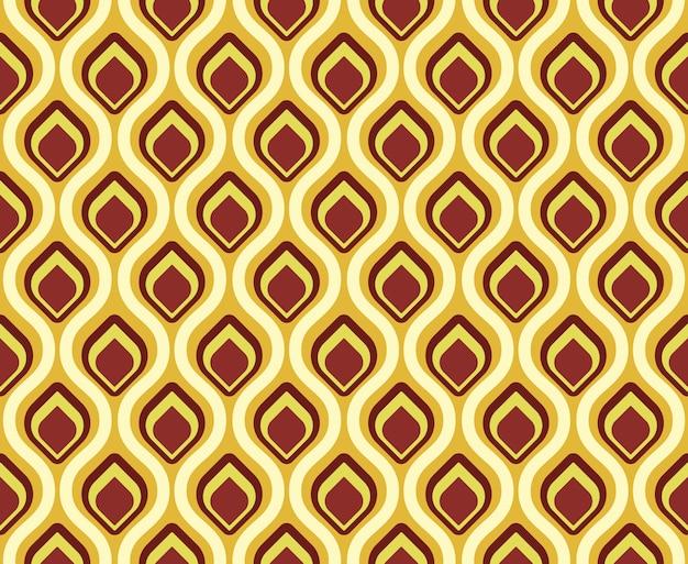 Cola de pavo real de patrones sin fisuras retro
