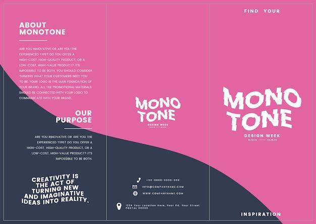 Colateral de marketing: plantilla de folleto