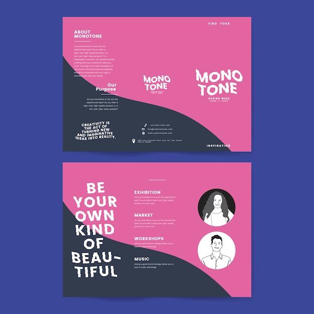 Colateral de marketing: plantillas de folletos.
