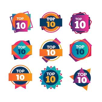 Colección de las 10 mejores insignias