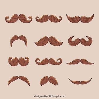 Colección de 12 bigotes para movember