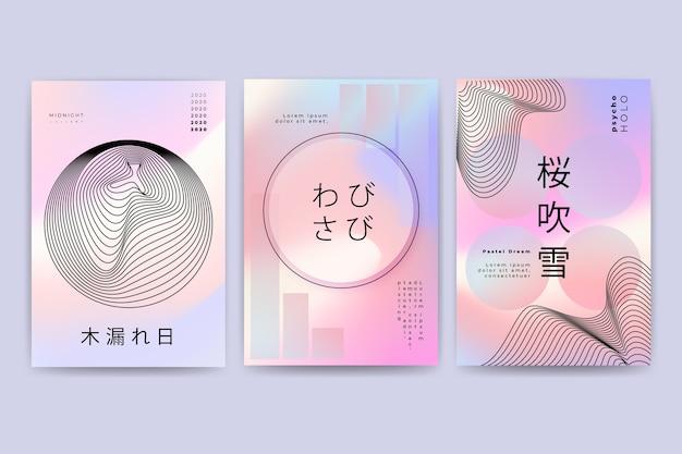 Colección abstracta de portadas holográficas