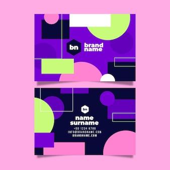 Colección abstracta de tarjetas de visita