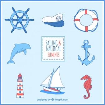 Colección de accesorios marinos