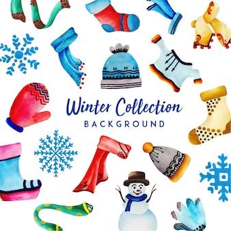 Colección acuarela invierno