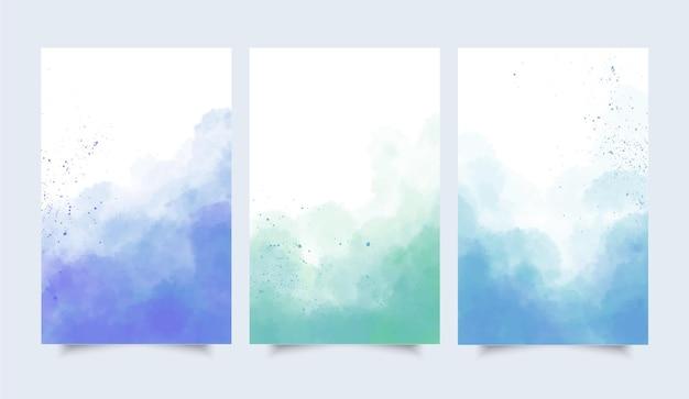 Colección de acuarelas abstractas vector gratuito