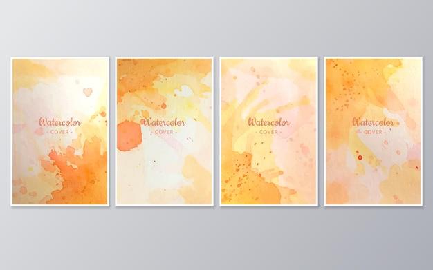 Colección de acuarelas abstractas