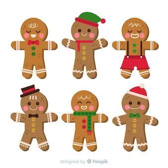 Colección adorable de galletas de navidad