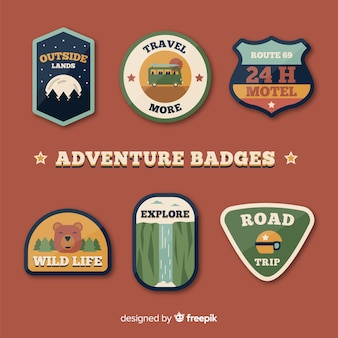 Colección adorable de insignias de aventura