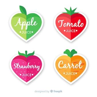 Colección adorable de insignias de comida