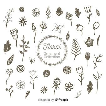 Colección de adornos florales