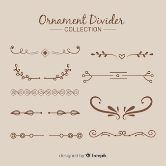 Colección de adornos separadores