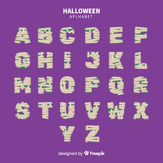 Colección de alfabeto de halloween