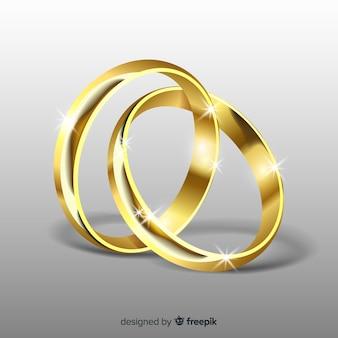 Colección de alianzas de boda realistas