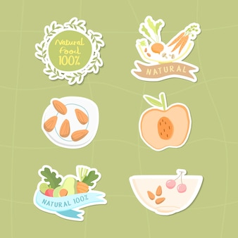Colección de alimentos naturales 100%