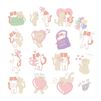 Colección amante de los gatitos
