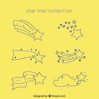 Colección amarilla de trazas de estrellas