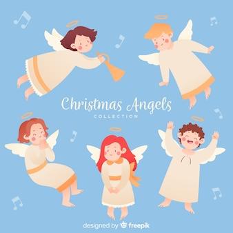 Coleccion de angel de navidad