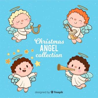 Colección de angeles de navidad