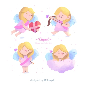 Colección ángeles niña día de san valentín