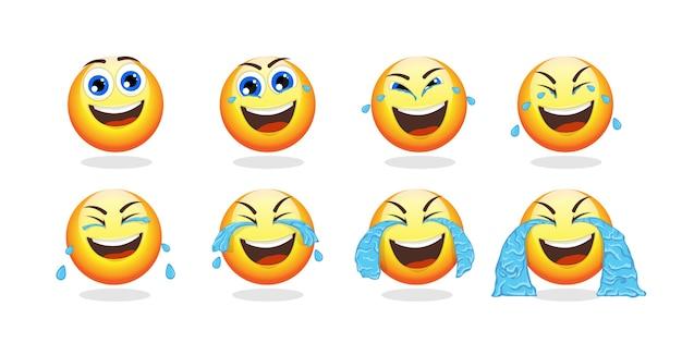 Colección de animación de dibujos animados emoji