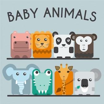 Colección de animales bebé