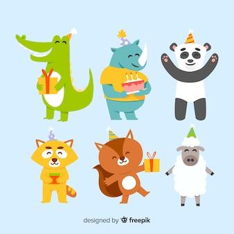 Colección de animales de cumpleaños