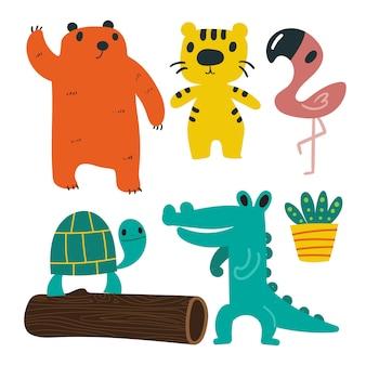 Colección de animales de diseño vectorial.