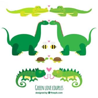 Colección de animales enamorados