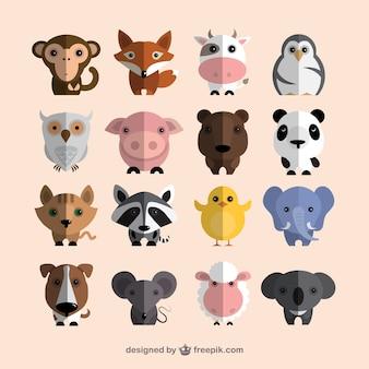 Colección de animales monos