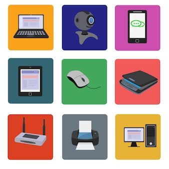 Colección de aparatos electrónicos
