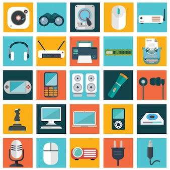 Colección de aparatos tecnológicos
