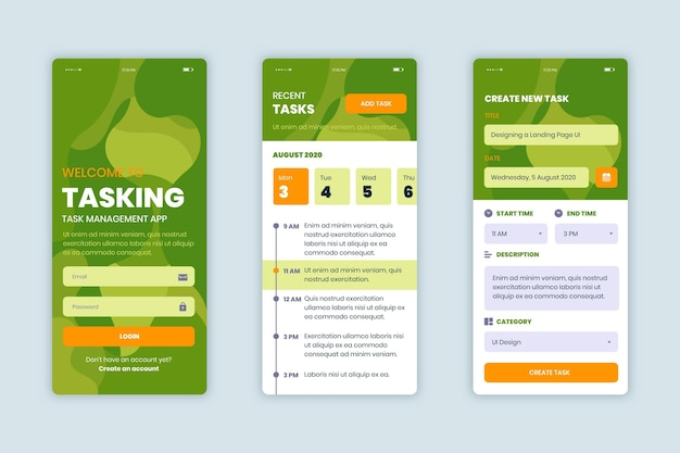 Colección de aplicaciones de gestión de tareas