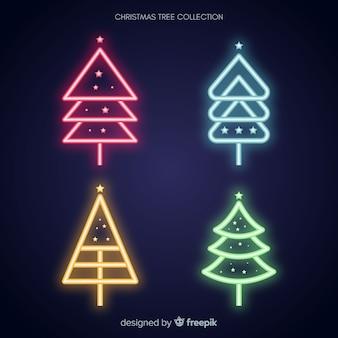 Colección árbol navidad neón