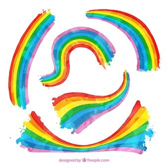 Colección de arco iris en formas diferentes