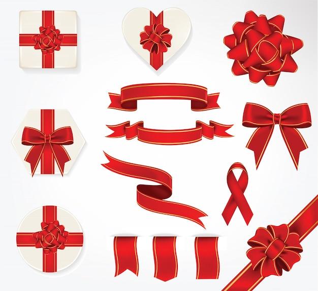 Colección de arcos y cintas de regalo