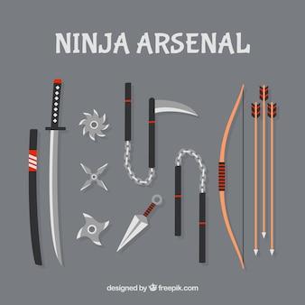 Colección de armas de ninja