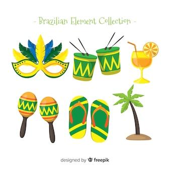 Colección de artículos del carnaval de brasil