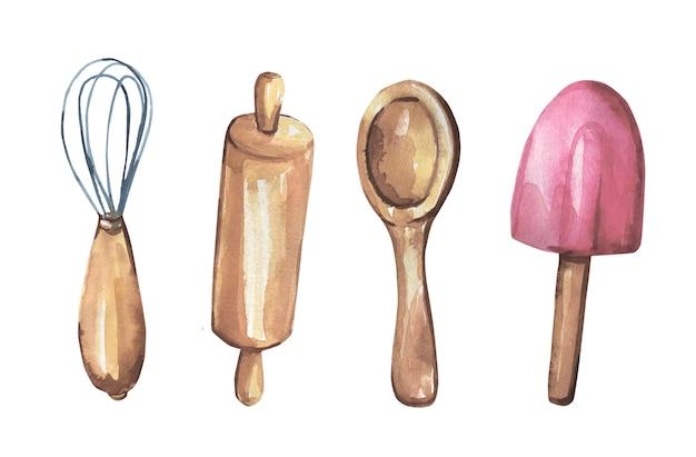 Colección de artículos de cocina