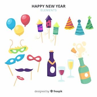 Colección de artículos de fiesta para año nuevo 2019