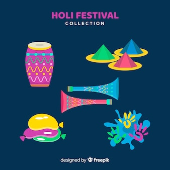 Colección de artículos de holi festival