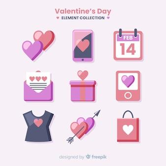 Colección de artículos de san valentín