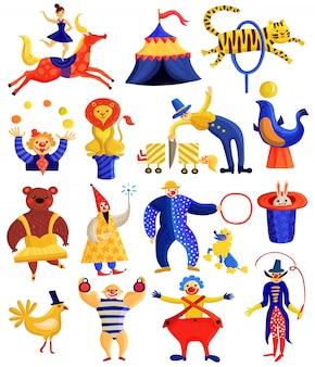 Colección de artistas de circo