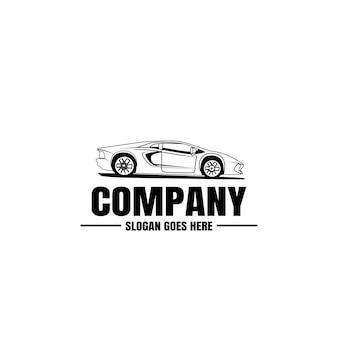 Colección de autos con logo
