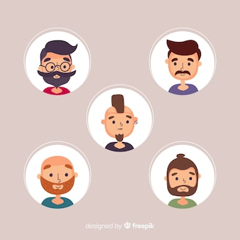 Colección de avatar de personas dibujadas a mano