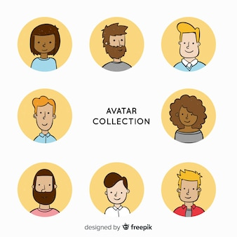 Colección avatares dibujados animados